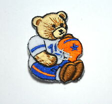 5cm TEDDY NFL FOOTBALL HELMET Embroidered Sew Iron On Cloth Patch Badge APPLIQUE
