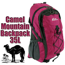 35l Large Bag Hiking Mountain Travel Backpack Sports Rucksack Camping Maroon