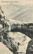Chile Postcard Cordillera de los Andes Puente Natural de Mea