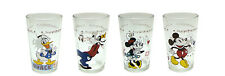 NEW Disney Mickey Mouse Minnie Donald Collectible Juice Glasses (Set of 4) NIB