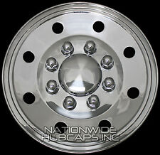 "4 CHROME 16"" Hub Caps Rim Covers Horse Flat Bed Enclosed 5th Wheel Boat Trailer"