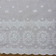 Embroidered Cotton Eyelet Lace Trim  Off White Lovely 1Yard  8 inch(20.5cm) Wide