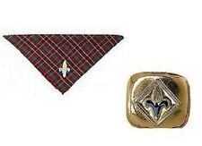 "Cub Scout WEBELOS NECKERCHIEF & SLIDE - BSA Official ""NEW"" with tags"