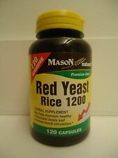 120 CAPSULES RED YEAST RICE 1200 mg / 2 CAPS lower cholesterol BEST DEAL