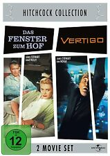 Hitchcock VENTANA EL PATIO + VÉRTIGO James Stewart 2 DVD