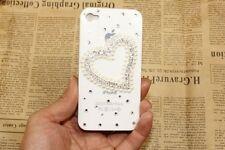 Coque transparente coeur perle pour iPhone4/4S Strass Prestige,hand made