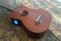 Laka VUS50 Soprano Acoustic Ukulele with Onboard Chromatic Tuner