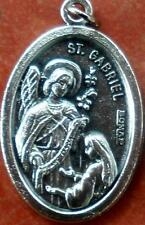 Saint St. Gabriel (the Archangel) with Blessed Virgin Mary Medal + Annunciation