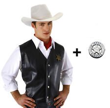 Lone Ranger inspired The Western Hero White Top Quality HAT + FREE Badge