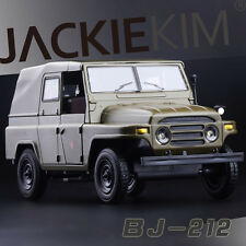 1/24 Scale China Military 1965 Beijing Jeep BJ212 Diecast Model Car Sound Light