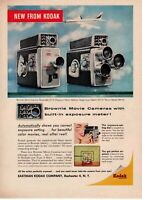 1958 ORIGINAL VINTAGE KODAK BROWNIE MOVIE CAMERA MAGAZINE AD