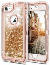 iPhone 6 6S Case Shockproof Glitter Flowing Liquid Bling Sparkle Cover Heavy