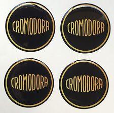 44mm CROMODORA WHEEL CAP BADGES  RESIN 3D DOME BADGE SLOT MAGS