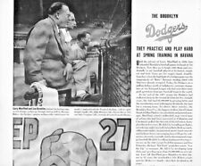 1942 Brooklyn Dodgers Four Page Article Pee Wee Reese Spring Training Havana
