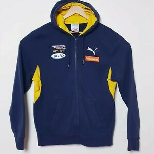 West Coast Eagles Puma Official AFL Hoodie Jacket Zip Up Windbreaker Mens Large