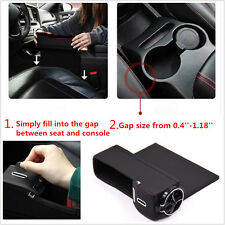 1Pc Black Car Auto Seat Storage Box Catcher Gap Filler Coin Collector Cup Holder