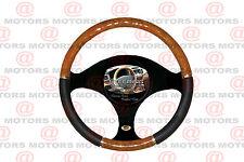New Wood Chrome Black Steering Wheel Cover Comfort Grip Luxury Series Cover