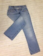 LUCKY VINTAGE EASY RIDER BUTTONFLY Sz 2 AUTH DISTRSSD JEANS ACTL 28x30 OLD! A84