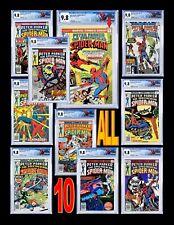 Spectacular Spider-Man #1 CGC 9.8 WP Plus #2 #3 #4 #5 #6 #7 #8 #9 #10 Set!