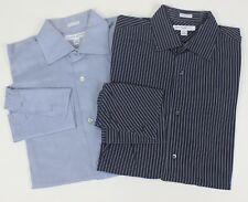 Lot of 2 Banana Republic Fitted Double French Cuffs Dress Shirts Large 16 Woven