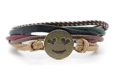 Emoji Bracelet Smiling Face With Heart Shaped Eyes Handmade