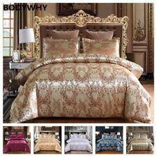 Luxury 2/3 Piece Bedding Set Satin Jacquard Quilt 1 Quilt Cover + 1/2 Pillowcase