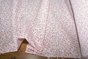1m x 1.4m width 'RED JAPANESE FLORAL' 100% COTTON Voile/Shirting Fabric, Light