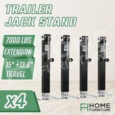 4X Heavy Duty Trailer Part Jack Stand Caravan Stabilizer Legs Extendable 3175KG
