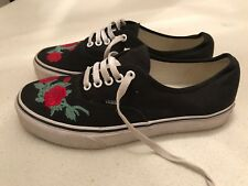 Women's Black Rose VANS Casual Canvans Trainers Size Uk 7