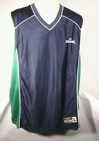 SPALDING L LARGE NAVY BLUE/GREEN REVERSIBLE JERSEY BASKETBALL TANK