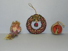 Two Cloth & One Plastic Christmas Ornaments_3767