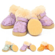 Dog Running Shoes Winter Padded Warm Snow Boots Waterproof Anti-slip Booties