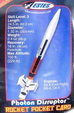 "Estes PHOTON DISRUPTOR #3025 Flying Model Rocket Kit Over 24"" Tall, Unusual Fins"