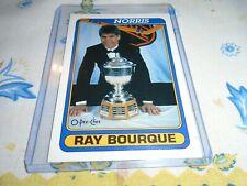 OPC 1990-1991 / 475   RAY BOURQUE BOSTON BRUINS TROPHY JAMES NORRIS