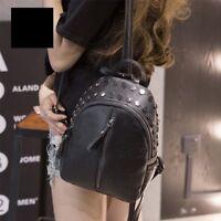 Small Backpack Women Mini Backpack Shoulder Bag Rivet Decoration Zipper Bag