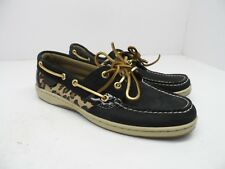 Sperry Women's Bluefish Boat Shoe Black/Leopard *Mismate* Left 8M / Right 7.5M