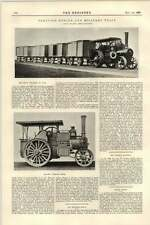 1899 Traction Engine In War Military Train Mclaren Leeds