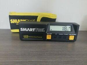 M-D 92346 Smart Tool 6-Inch Digital Inclinometer Matte Black case measuring tool