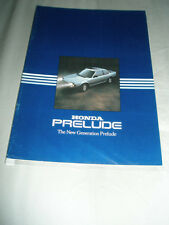 Honda Prelude range brochure 1984 + price list