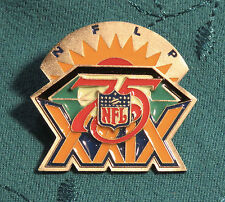 Super Bowl XXIX NFLP Players Pin numbered 360/500 49ers Chargers 1995 NFL 75th