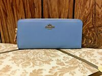 COACH Smooth Leather Accordion Zip Wallet 73738