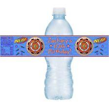12 Nerf Gun Wars Target Birthday Party Baby Shower Water Bottle Stickers Labels