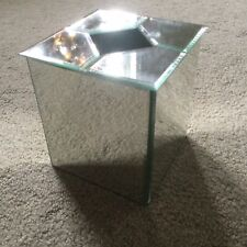 Beautiful! Acrylic Mirror Square Tissue Box Cover Kleenex Bedroom Beveled Modern