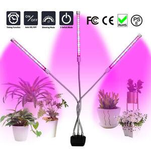 3-Head LED Plant Grow Lights Flower Indoor Greenhouse Hydroponic Lamp Gardening