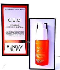 SUNDAY RILEY CEO C.E.O. RAPID FLASH BRIGHTENING SERUM 1 OZ FULL SIZE! AMAZING!