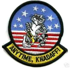 TOPGUN TOP GUN F-14 TOMCAT ANYTIME COL. KHADAFFI PATCH