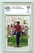 2001 Upper Deck Tiger Woods Victory March graded 10 Mint by Beckett BCCG