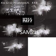 Kiss 1976 Playing Black Diamond Set Of 10 B&W 4 X 6 Photos Lakeland,FL Shock Me
