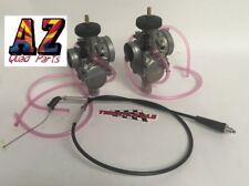 Yamaha Banshee Keihin PWK 33 Carbs Carburetors Pair Terry Thumb Throttle Cable