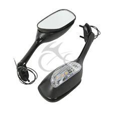 LED Turn Signal Rear Mirrors For SUZUKI GSXR1000 05-15 GSXR 600 GSX-R750 06-15